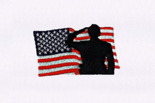 American Flag Independence Day Embroidery Design By StitchersCorp