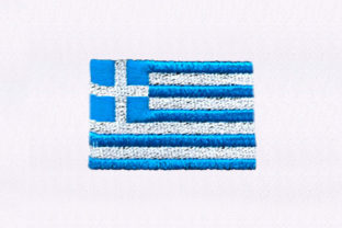 Blue and White Flag Independence Day Embroidery Design By StitchersCorp