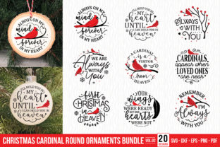 Christmas Cardinal Ornaments Bundle V.2 Graphic Crafts By CraftlabSVG