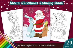 Christmas Coloring Book Pages for Kids Graphic Coloring Pages & Books By ZentangleSVG
