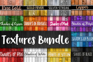 Print on Demand: Colorful Digital Textures Bundle Graphic Backgrounds By oldmarketdesigns