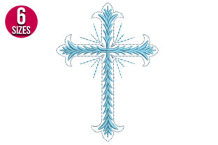 Print on Demand: Cross Religion & Faith Embroidery Design By Nations Embroidery