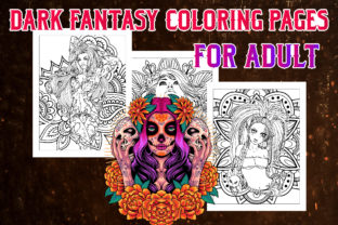 Dark Fantasy Coloring Pages for Adults Graphic Coloring Pages & Books Adults By Artist Zone