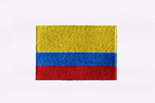 Flag of Colombia Independence Day Embroidery Design By StitchersCorp