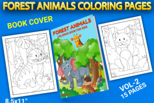 Print on Demand: Forest Animals Coloring Pages with Book Graphic Coloring Pages & Books Kids By Simran Store