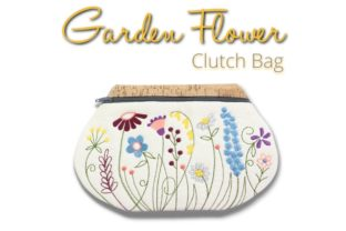 Garden Flower Clutch in the Hoop Bouquets & Bunches Embroidery Design By Sookie Sews