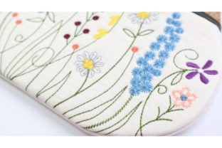 Garden Flower Clutch in the Hoop Bouquets & Bunches Embroidery Design By Sookie Sews 3