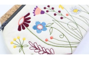 Garden Flower Clutch in the Hoop Bouquets & Bunches Embroidery Design By Sookie Sews 4