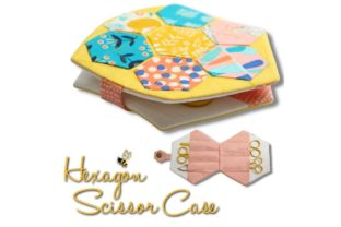 Hexagon Scissors Case Graphic Sewing Patterns By Sookie Sews