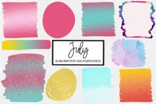 Print on Demand: July Sublimation Backgrounds   Summer Graphic Crafts By illuztrate