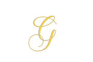 Letter G Shapes Embroidery Design By qpcarta