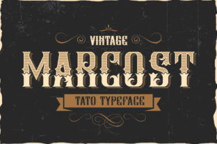 Print on Demand: Marcost Blackletter Font By Graphicxell