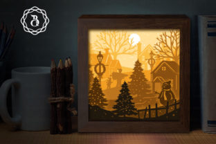 Merry Christmas 1 Shadow Box SVG (8X8in) Graphic 3D Shadow Box By Bich Paper Art