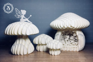 Mushroom and Little Fairy 3D Paper Craft Graphic 3D Shapes By Bich Paper Art