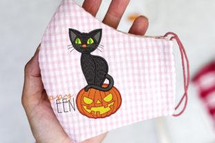 Print on Demand: Pumpkin and Cat Halloween Embroidery Design By ArtEMByNatali 2