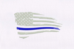 Reimagined US Flag Independence Day Embroidery Design By StitchersCorp