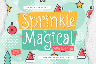 Print on Demand: Sprinkle Magical Display Font By allouse.studio