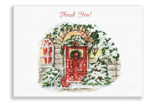 Watercolor Winter Scene Clipart. Graphic Illustrations By KaleArtCreative 4