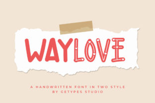Print on Demand: Waylove Display Font By getypes