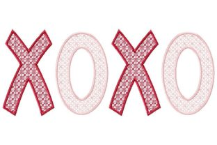 XOXO Valentine Valentine's Day Embroidery Design By Thread Treasures Embroidery