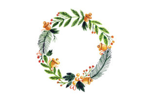 Watercolor Christmas Wreath Christmas Craft Cut File By Creative Fabrica Crafts