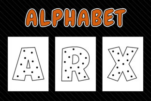 Alphabet Coloring Pages with Polka Dots Graphic Coloring Pages & Books Kids By Picto Graphy