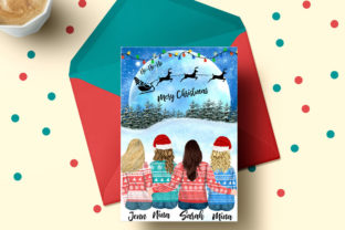 Print on Demand: Christmas Girls Clipart Christmas Bundle Graphic Illustrations By LeCoqDesign 5