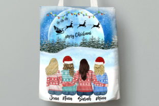 Print on Demand: Christmas Girls Clipart Christmas Bundle Graphic Illustrations By LeCoqDesign 8