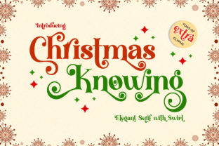 Print on Demand: Christmas Knowing Serif Font By airotype