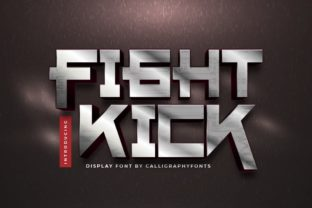 Print on Demand: Fight Kick Display Font By CalligraphyFonts