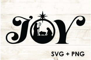 Print on Demand: Nativity Scene Joy Letters Hallelujah Graphic Product Mockups By Too Sweet Inc