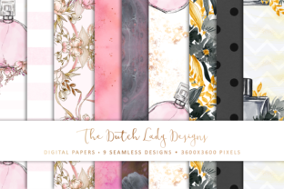 Print on Demand: Seamless Patterns - Floral Perfumes Graphic Patterns By daphnepopuliers