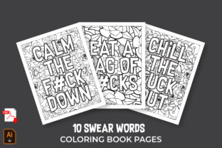 Swear Words for Adults COLORING PAGES Graphic Coloring Pages & Books Adults By Coloringtivity