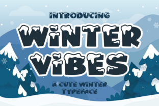Print on Demand: Winter Vibes Display Font By Dani (7NTypes)