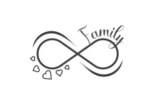 Family Infinity Symbol Family Craft Cut File By Creative Fabrica Crafts