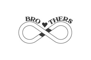 Brothers Infinity Symbol Family Craft Cut File By Creative Fabrica Crafts