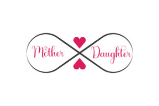 Mother and Daughter Infinity Symbol Family Craft Cut File By Creative Fabrica Crafts