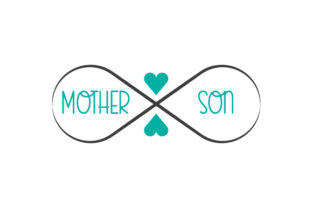 Mother and Son Infinity Symbol Family Craft Cut File By Creative Fabrica Crafts