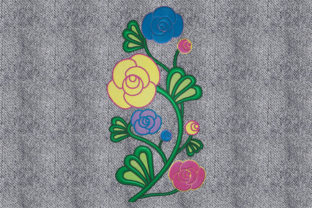 Print on Demand: Bouquet of Beautiful Flowers Bouquets & Bunches Embroidery Design By embroidery dp