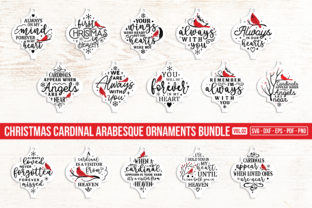 Christmas Cardinal Arabesque Bundle V.2 Graphic Crafts By CraftlabSVG