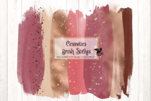 Print on Demand: Cosmetics Brush Strokes Clipart Graphic Illustrations By Digital Curio