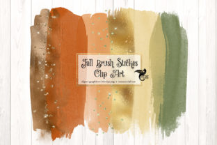 Print on Demand: Fall Brush Strokes Clipart Graphic Illustrations By Digital Curio