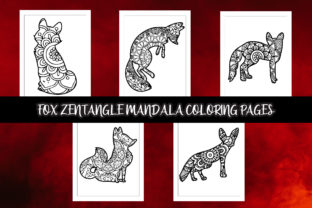 Fox Zentangle Mandala Coloring Pages Graphic Coloring Pages & Books Adults By Artist Zone