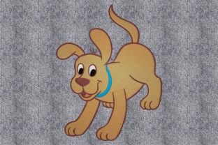Print on Demand: Happy Dog Dogs Embroidery Design By embroidery dp