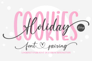 Print on Demand: Holiday Cookies Script & Handwritten Font By BitongType