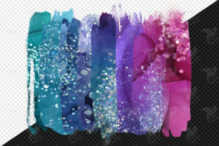 Print on Demand: Ink and Glitter Brush Strokes Clipart Graphic Illustrations By Digital Curio 2