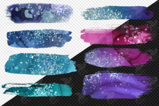 Print on Demand: Ink and Glitter Brush Strokes Clipart Graphic Illustrations By Digital Curio 3
