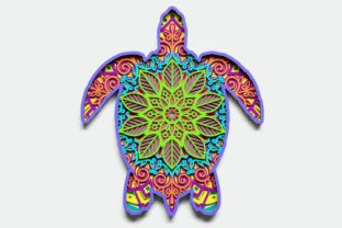 Layered Turtle Design for Cutting Graphic 3D Shapes By LaserCraftum