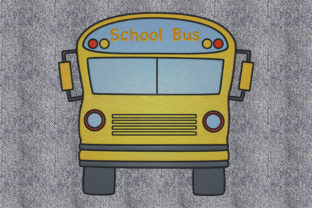 Print on Demand: School Bus Work, Religion & School Embroidery Design By embroidery dp
