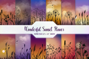 Wonderful Sunset Flower Background Graphic Backgrounds By DifferPP
